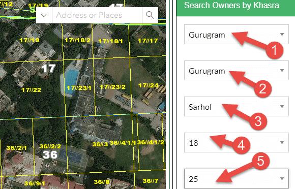 हरियाणा का भू नक्शा